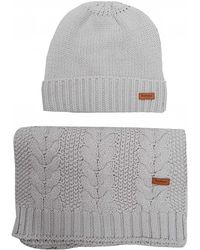 Barbour - Cable Hat And Scarf Set - Lyst