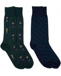 Polo Ralph Lauren - Two Pack All Over Polo Bear Socks - Lyst
