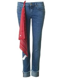 Tommy Hilfiger Rome Rolled Up Boyfriend Jeans - Blue