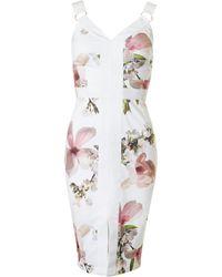 Ted Baker - Harmony Print Body Con Dress - Lyst