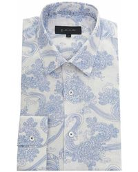 1 Like No Other - Printed Linen Shirt - Lyst