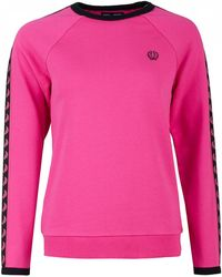 Fred Perry - Taped Crew Neck Logo Sweat - Lyst