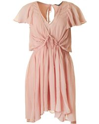 French Connection - Brooke Drape Dress - Lyst