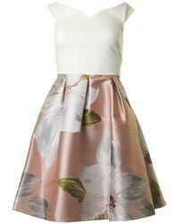 Ted Baker - Chatsworth Bloom Bardot Dress - Lyst