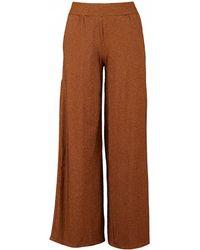 Saint Tropez - Metallic Striped Jersey Trousers - Lyst