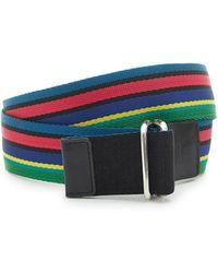Paul Smith - Reversible Mesh Striped Belt - Lyst