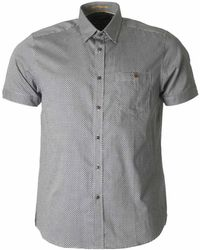 Ted Baker - Munkee Short Sleeved Printed Shirt - Lyst