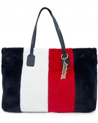 Tommy Hilfiger - Cool Tommy Faux Fur Tote Bag - Lyst