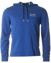 EA7 - Natural Ventus Overhead Hooded Sweat - Lyst