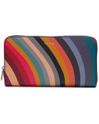 Paul Smith - Leather Swirl Zip Purse - Lyst