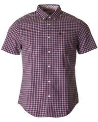 Original Penguin - Short Sleeved Gingham Shirt - Lyst
