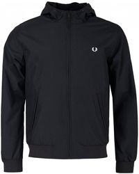 Fred Perry - Hooded Brentham Jacket - Lyst