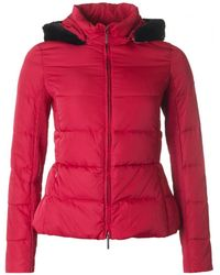 Armani - Short Fitted Fur Collar Jacket - Lyst