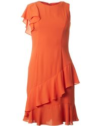 BOURNE - Maggie Asymetric Frill Dress - Lyst