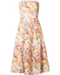 Ted Baker - Midi Full Printed Lace Dress - Lyst