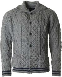 Howlin' By Morrison | Martin Button Cable Knit Cardigan | Lyst
