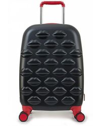 Lulu Guinness - Small Lips Hardside Spinner Case - Lyst
