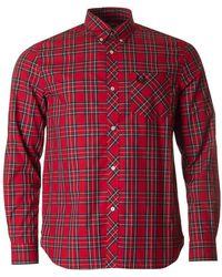 Fred Perry - Long Sleeved Tartan Shirt - Lyst