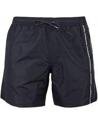 Emporio Armani - Side Taped Swim Shorts - Lyst