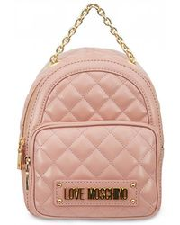 Moschino - Quilted Chain Detail Backpack - Lyst