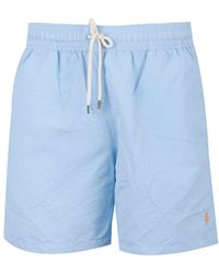 2b78cf8497 Polo Ralph Lauren Seersucker Traveller Swim Short in Blue for Men - Save  42% - Lyst