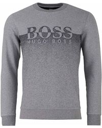 BOSS by Hugo Boss - Withmore Contrast Logo Crew Neck Sweat - Lyst