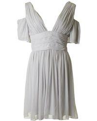 French Connection - Constance Drape Cold Shoulder Dress - Lyst