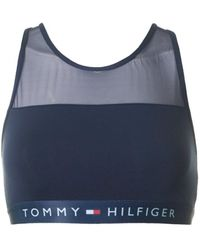 51d26524e0d64 Tommy Hilfiger Sheer Flex Cotton Bralette in White - Lyst