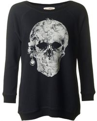 A Postcard From Brighton - Printed Skull Sweat - Lyst