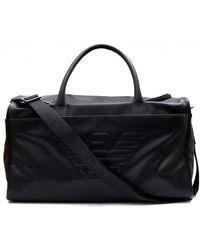 Armani Jeans - Embossed Eagle Weekend Bag - Lyst