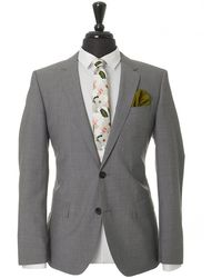 HUGO - Henry Griffin Micro Check Slim Suit - Lyst