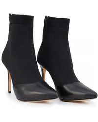 bdadbeb52aa Michael Kors - Vicky Tape Logo Sock Ankle Boots - Lyst