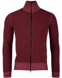 BOSS - Afurly Full Zip Through Wool Knit - Lyst