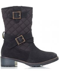 Barbour - Barnes Waxy Suede Canvas Boots - Lyst