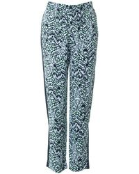 French Connection - Leopard Moth Crepe Trousers - Lyst
