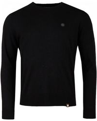 Pretty Green - Hinchcliffe Black Wool Knitted Crew Neck Sweater - Lyst