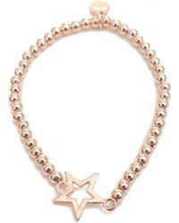 Olia Jewellery - Claudia Hammered Disc Beaded Bracelet - Lyst
