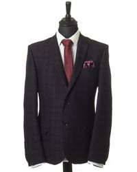 1 Like No Other - Checked Brown Jacket - Lyst