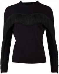 Ted Baker - Anibal Fringe And Ruffle Jumper - Lyst