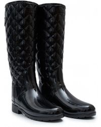 HUNTER - Original Refined Quilted Gloss Boots - Lyst