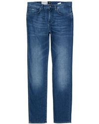 BOSS - Deleware 3 Slim Cashmere Touch Jeans - Lyst