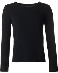 Armani - Button Shoulder Knit - Lyst