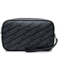 67a146cd9697 Lyst - Armani Jeans Logo Wash Bag in Black for Men