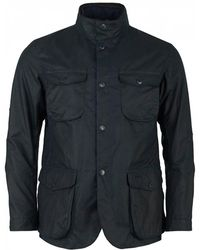 Barbour - Ogston Four Pocket Waxed Jacket - Lyst