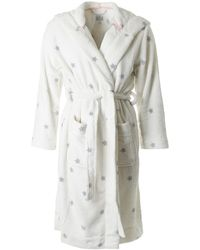 Joules - Fleece Dressing Gown - Lyst