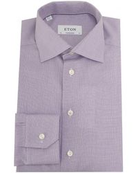 Eton of Sweden - Cambridge Twill Structured Weave Shirt - Lyst