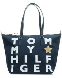 Tommy Hilfiger | Poppy Logo Nylon Tote Bag | Lyst