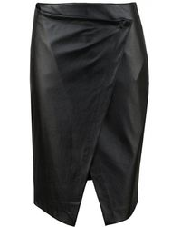 Silvian Heach - Faux Leather Front Skirt - Lyst