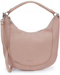 594b9bb5af22c3 Ted Baker Proter Grained Leather Shoulder Bag in Brown - Lyst