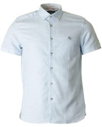 Ted Baker - Peeze Short Sleeved Oxford Shirt - Lyst